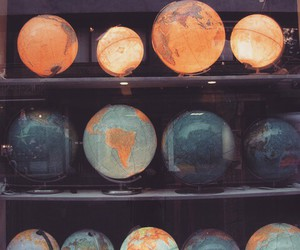 world, globe, and vintage image