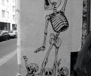 skull, art, and skeleton image