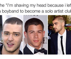 zayn malik, funny, and nick jonas image