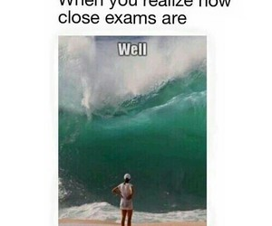 exams, funny, and ocean image