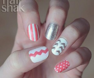 chevron, dots, and lines image