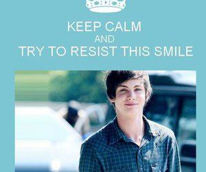 keep calm, smile, and boy image