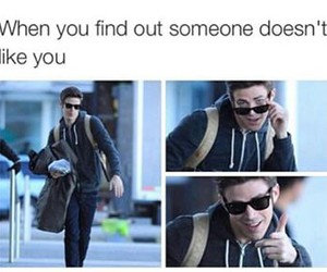 funny, lol, and grant gustin image