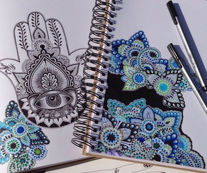 art, black and white, and disegni image
