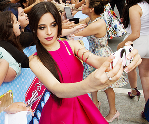 dress, hair, and camila cabello image