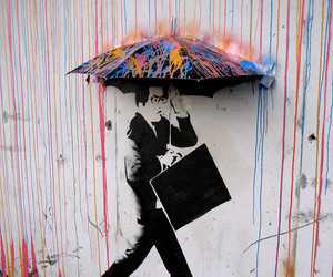 art, rain, and street art image