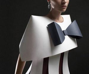 dress, Paper, and paper sculpt image