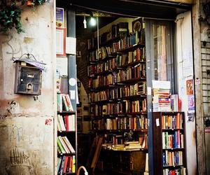 book, bookshop, and vintage image