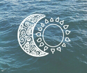 sun, moon, and sea image