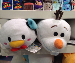 donald, olaf, and disney store image