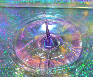 water, grunge, and rainbow image