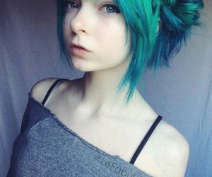 hair, cute, and blue image