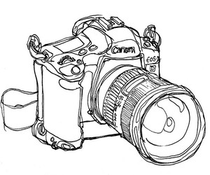camera, canon, and contour image