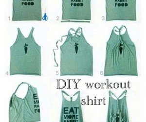 diy, shirt, and workout image