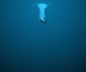 water, sea, and blue image