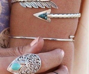 accessories, rings, and boho image