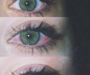cry, green eyes, and red image