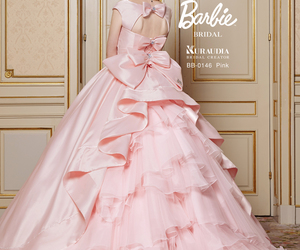 dress, pink, and barbie image