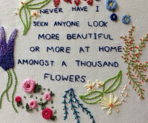 beautiful, flowers, and words image