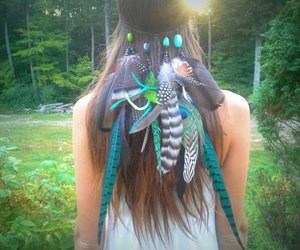 hippie, turquoise, and wedding image