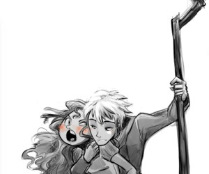 art draw, sketch, and jack frost and merida image