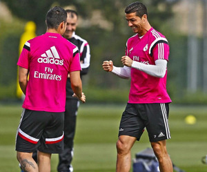 cristiano ronaldo, james, and real madrid image