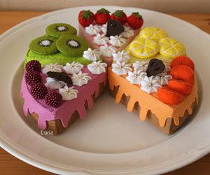 cake, cakes, and felt food image