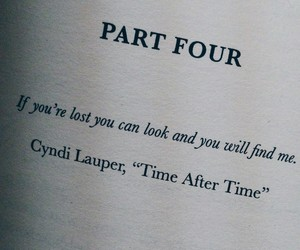 book, Cyndi Lauper, and quote image