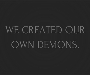 dark, deep, and demons image
