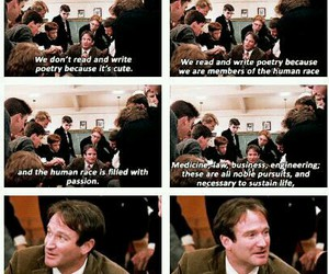 dead poets society, robin williams, and inspiration image