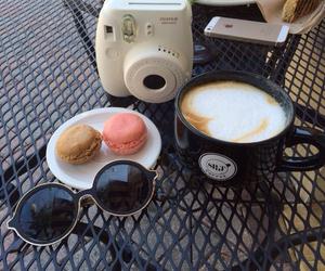 coffee, camera, and sunglasses image
