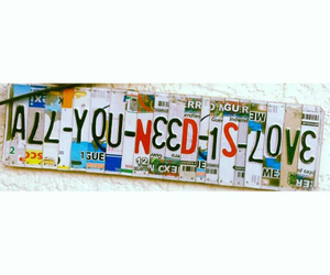 beatles, plates, and loveisallyouneed image