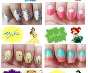 disney, nails, and princess image