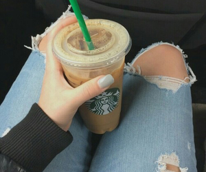 jeans and starbucks image