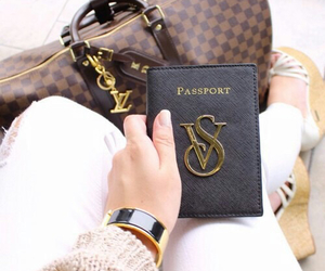 Victoria's Secret, passport, and Louis Vuitton image