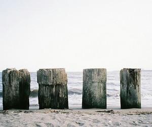 sea, beach, and vintage image