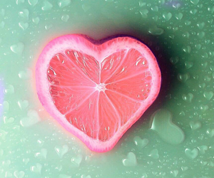 heart, fruit, and pink image