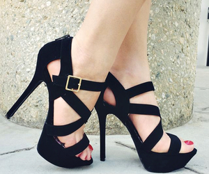 black, black shoes, and heels image