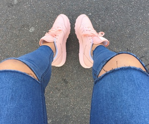 shoes, jeans, and pink image