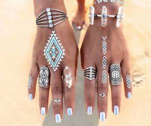 rings, summer, and nails image