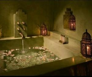 bath, light, and bathroom image