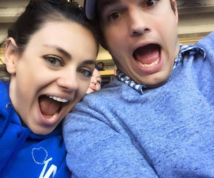 Mila Kunis, couple, and ashton kutcher image