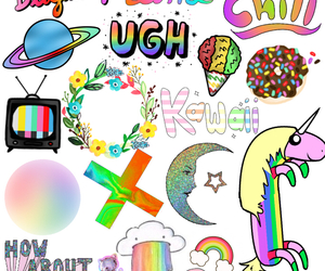 Collage, fun, and rainbow image