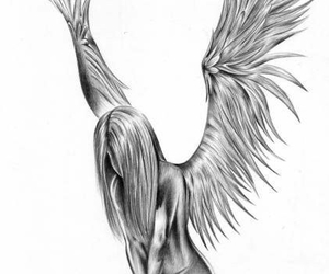 angel, drawing, and fallen angel image
