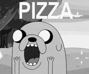pizza, food, and adventure time image