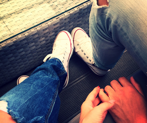 casual, converse, and love image
