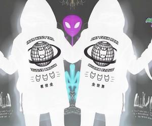 alien, alternative, and black image