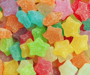 candy, food, and stars image