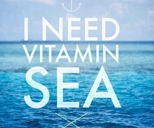 sea, summer, and vitamin image
