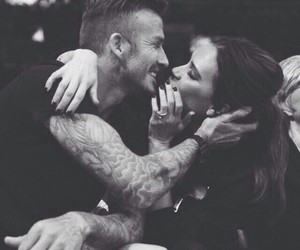 love, couple, and David Beckham image